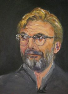 A portrait done in oils of Liverpool football club