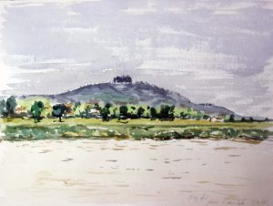 beginners watercolour class, sefton and southport. watercolour by roy munday, may hill, gloucestershire