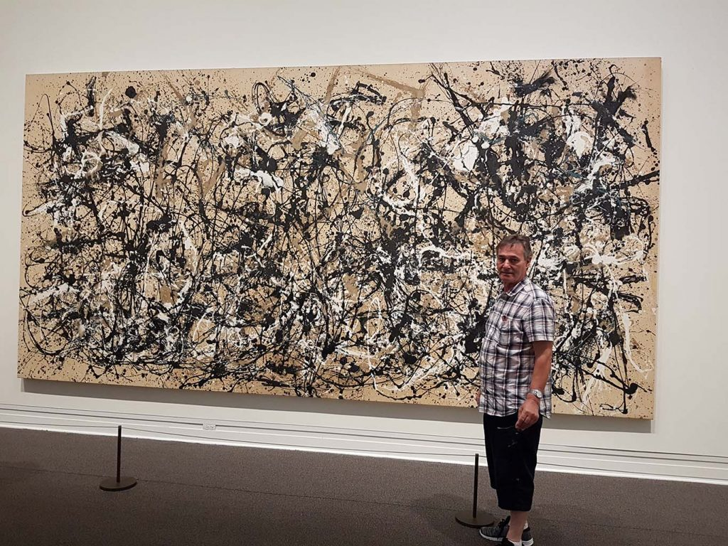 roy munday, artist, liverpool, trip to new york, jackson pollock's painting