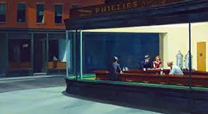 Another iconic painting, by Edward Hopper. art classes for beginners, liverpool, preston, formby, crosby, preston, lancashire and merseyside.