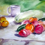 watercolour still life, russia countryside, by artist roy munday, beginners art classes, crosby, formby, kirby, wirral, merseyside