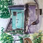 watercolour painting, russian garden, artist roy munday, artclasses for all abilaties, liverpoo, southport, merseyeside