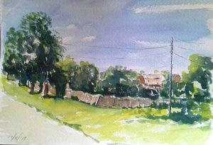 watercolour classes, artist roy munday, painting done in the russian landscape