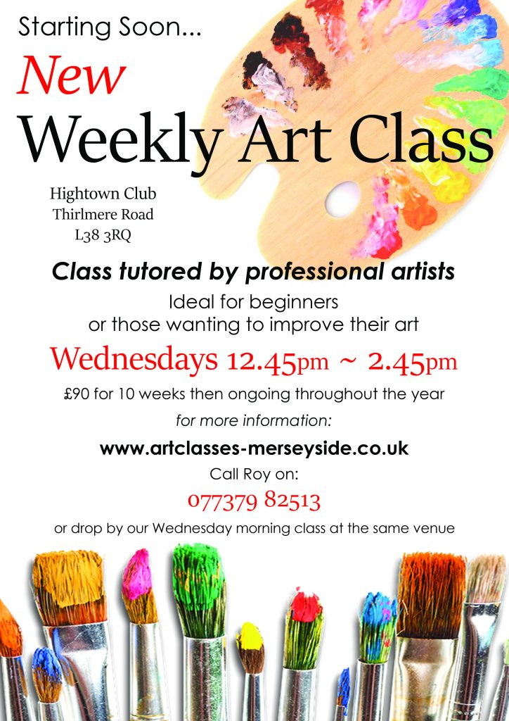 beginners art class, learning to draw and paint, also life drawing, at Hightown, Formby, L38 3RQ Merseyside, starting soon