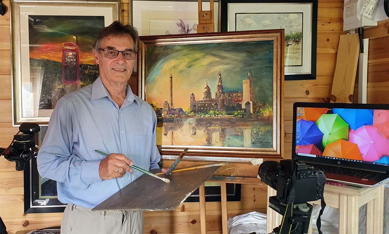 roy munday, art tutor, liverpool, southport, merseyside, online art classes,