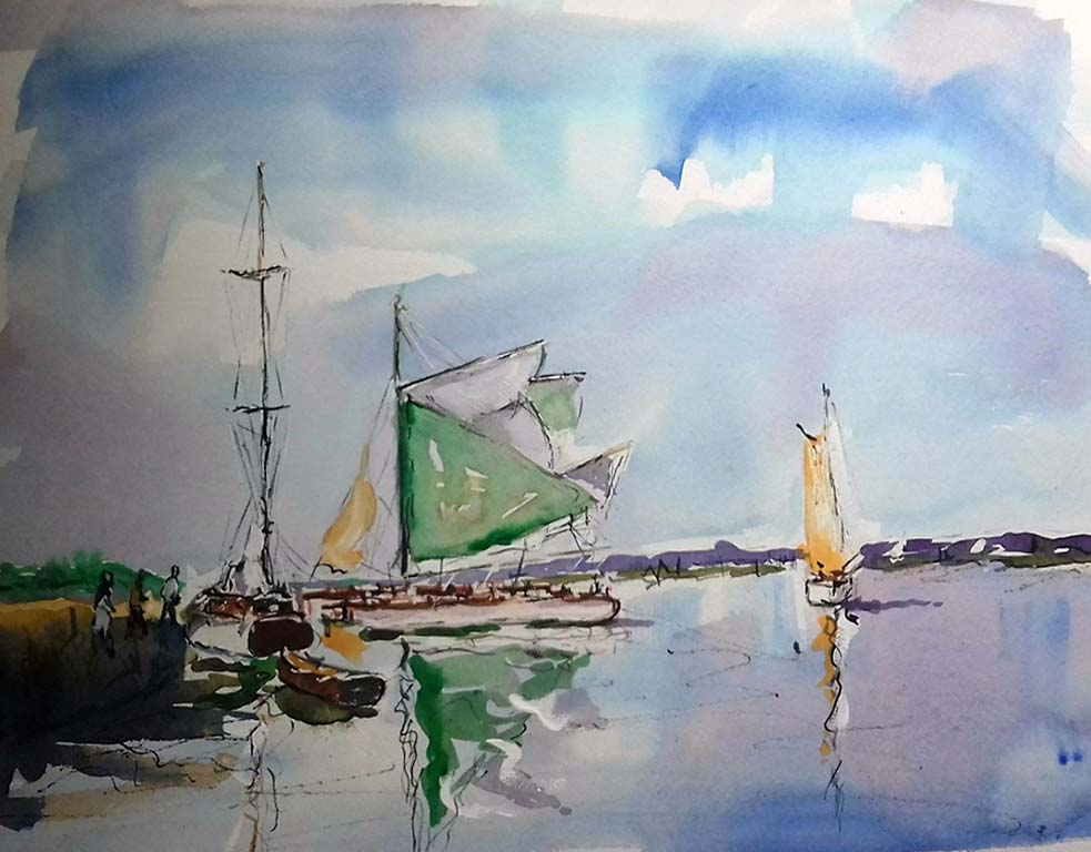 roy munday, artist, art tutor, liverpool, southport, merseyside, watercolour painting.