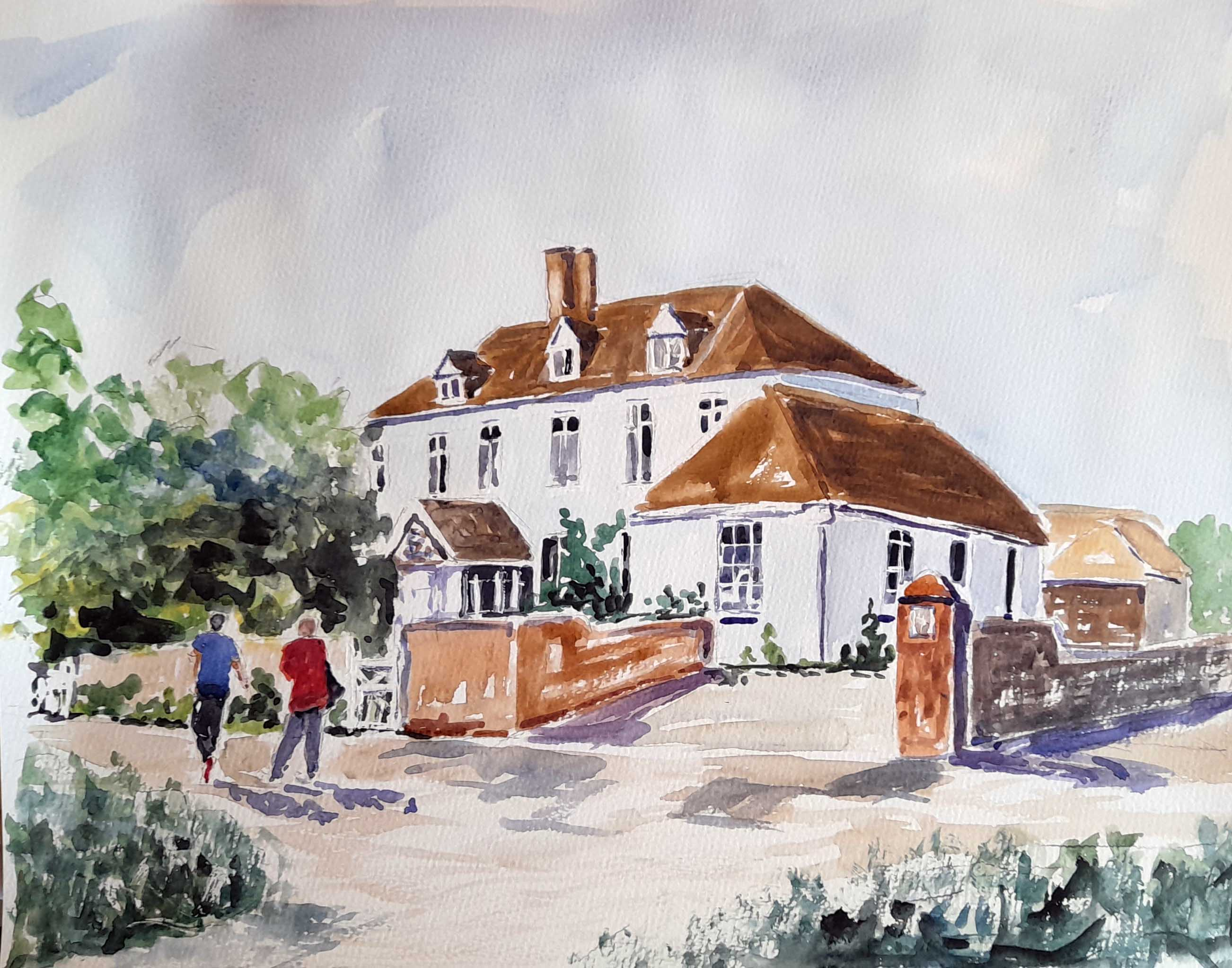 the surgery, frampton on severn, gloucestershire, painting, for sale, Gloucestershire, watercolour